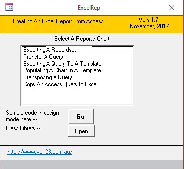 A Classy Interface for Microsoft Excel - vb123 com